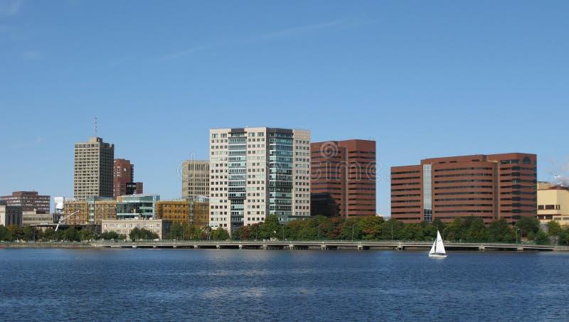 Boston city skyline royalty free stock image
