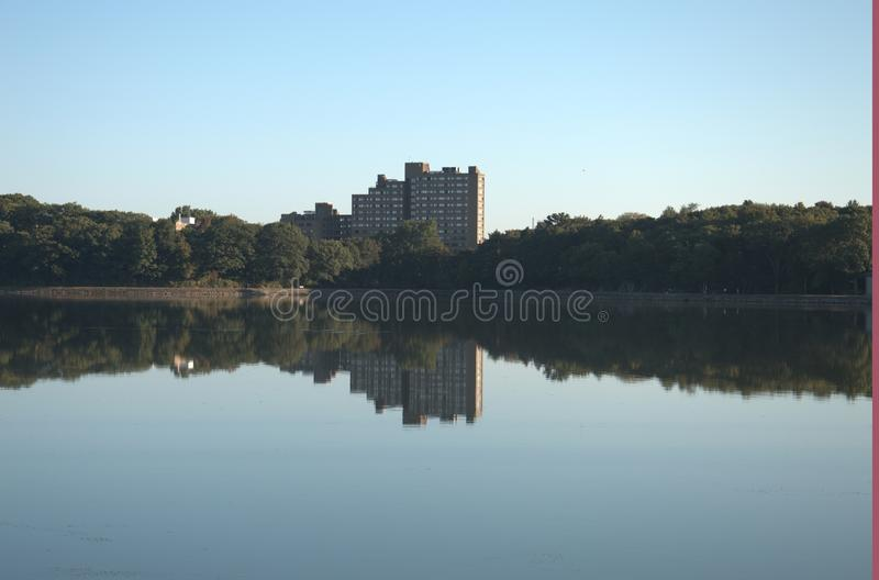 Boston College Reservoir royalty free stock image