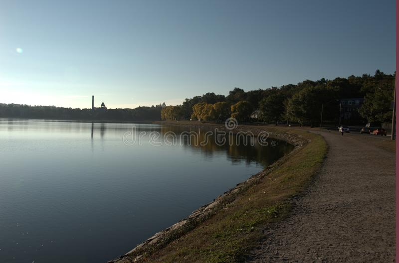 Boston College Reservoir stock photography