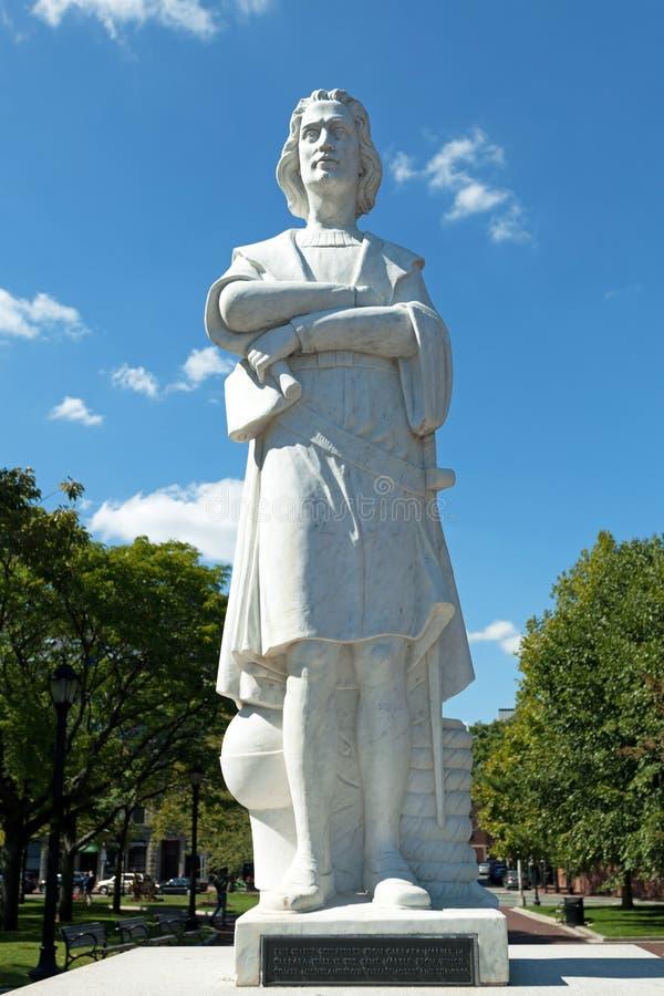 Boston Colombus Public Statue fotografía de archivo