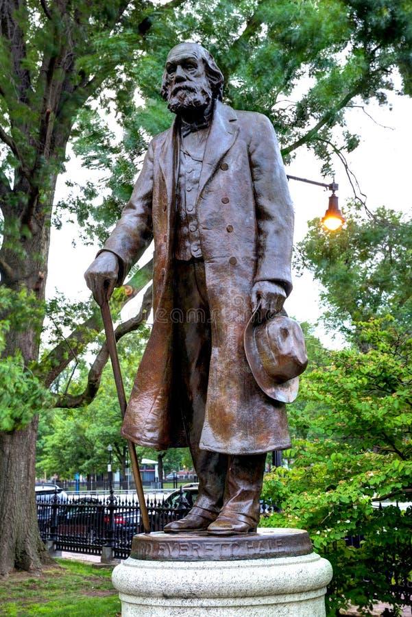 Boston Common Edward Everett Hale monument. In Massachusetts USA royalty free stock photos