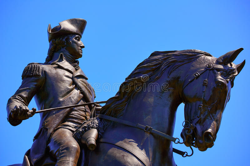 Boston Common George Washington monument royalty free stock photography