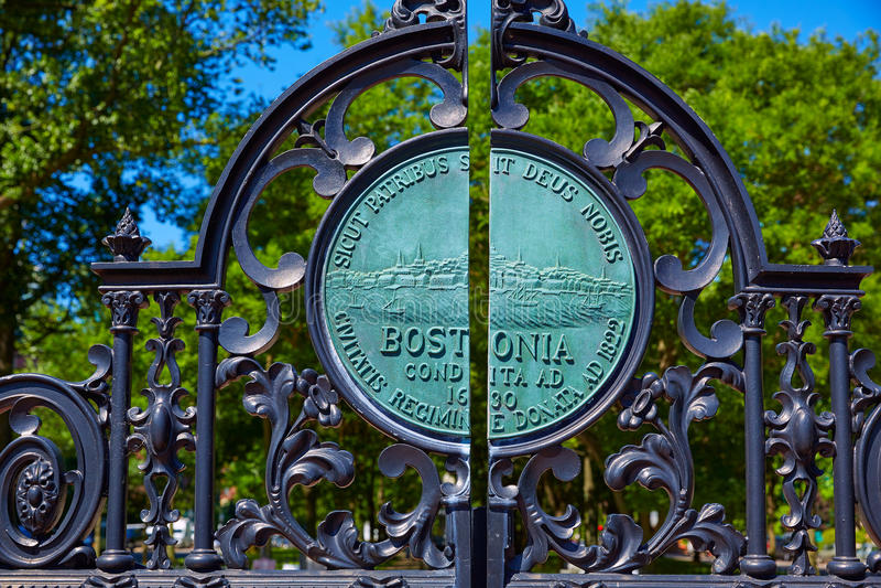 Boston Common park Arlington gate royalty free stock photos