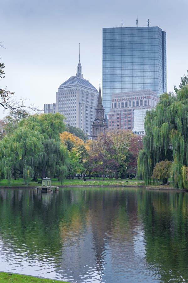 Boston Common Public Garden. Boston Common the oldest city park in the US and U.S. National Historic Landmark royalty free stock photos