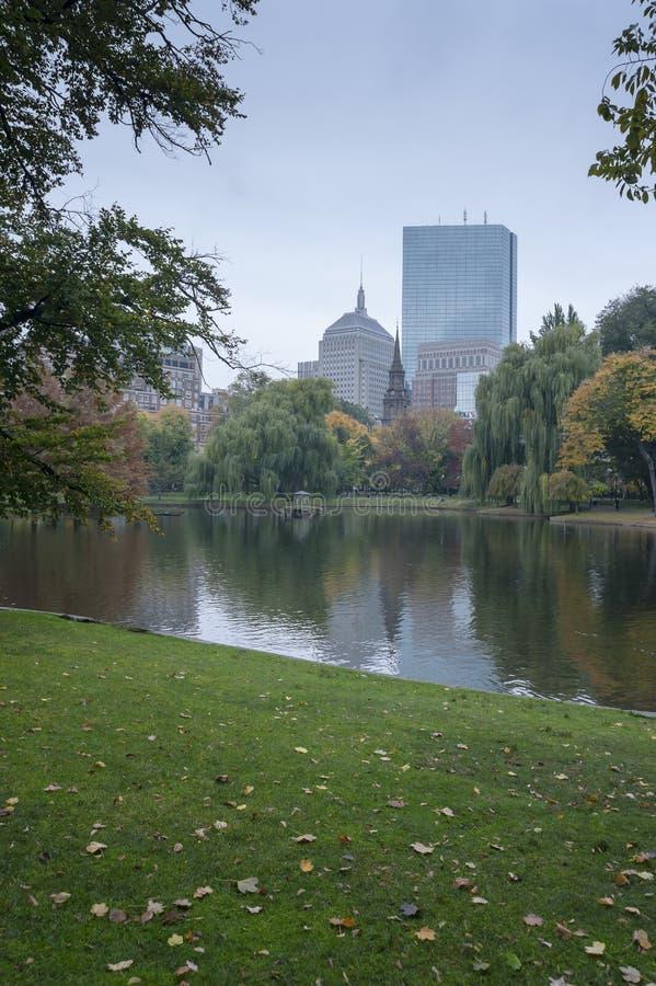 Boston Common Public Garden. Boston Common the oldest city park in the US and U.S. National Historic Landmark stock photo