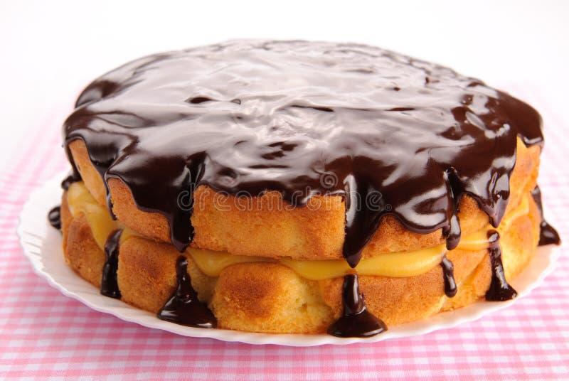 Boston cream pie stock image
