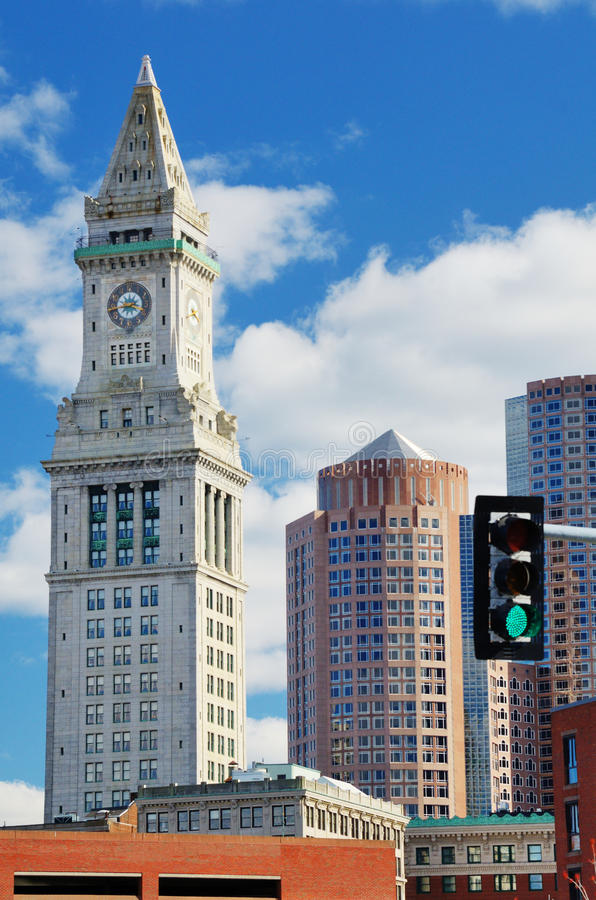 Boston Custom House Tower stock photography