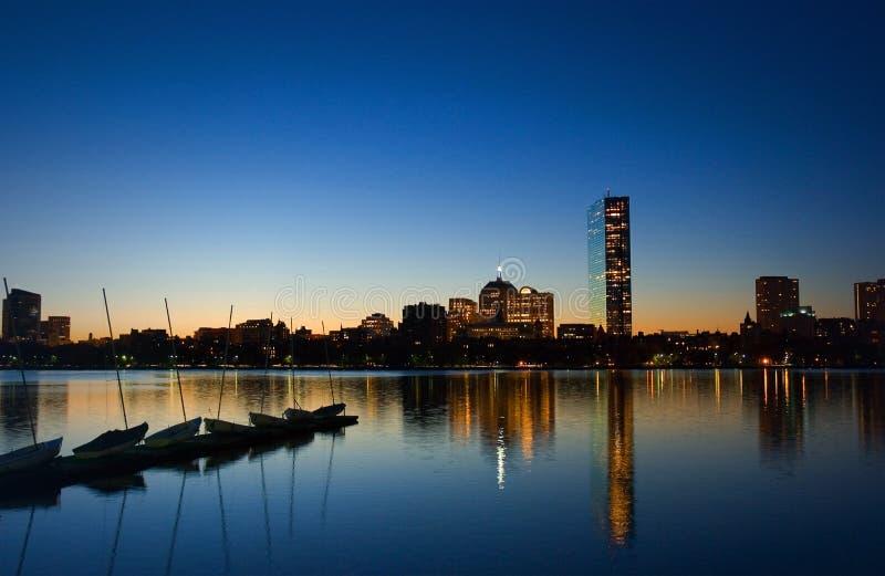 Boston-Dämmerung stockbild