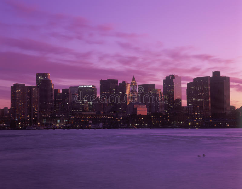 Boston, de horizon van de doctorandus in de letteren stock afbeeldingen