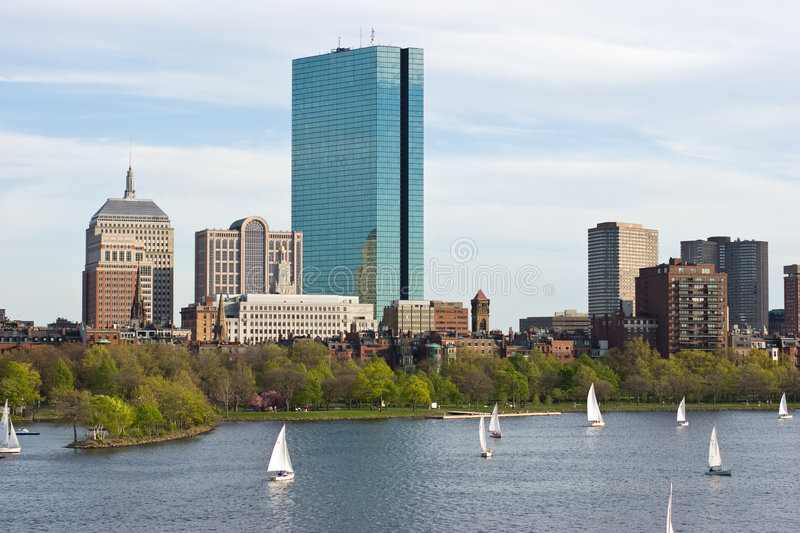 Boston in de lente royalty-vrije stock afbeelding
