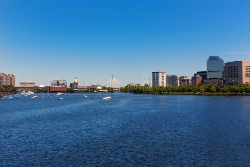 Boston de pont de Longfellow dans le Massachusetts images stock