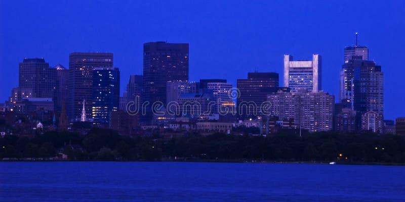 Boston del centro al crepuscolo fotografia stock