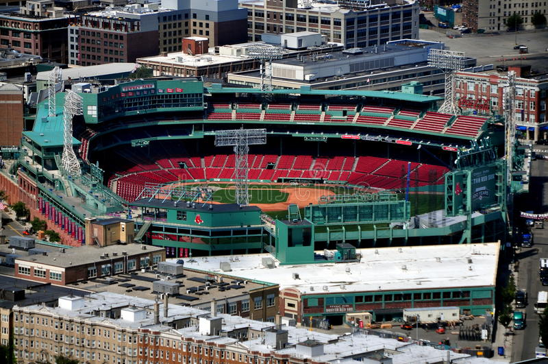 Boston, doctorandus in de letteren: Fenwaypark, Huis van Rode Sox stock afbeelding