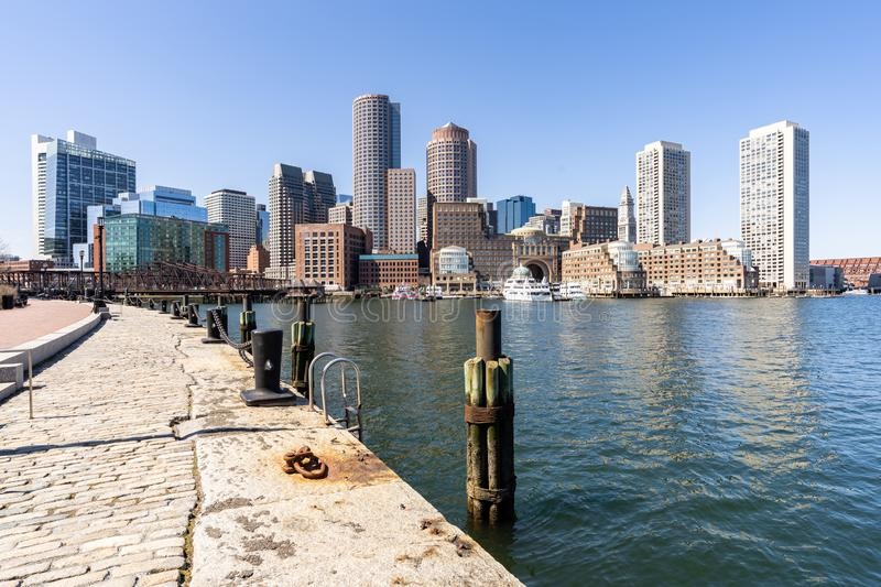 Boston Downtown. Skylines building cityscape at Boston city, MA, USA stock photos