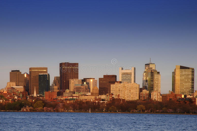 Download Boston at Dusk stock photo. Image of america, boston, financial - 9751906