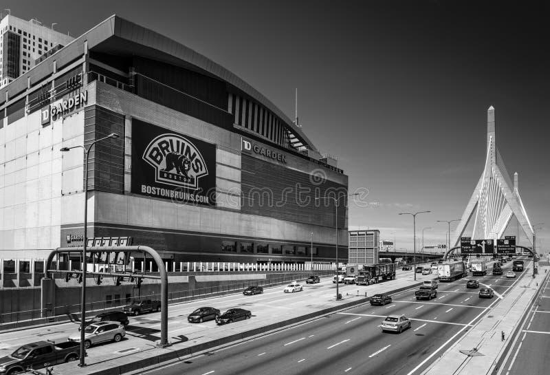 Boston, EUA: Estádio dos Boston Bruins fotos de stock