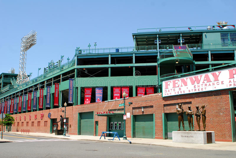 boston fenway morpark royaltyfria foton
