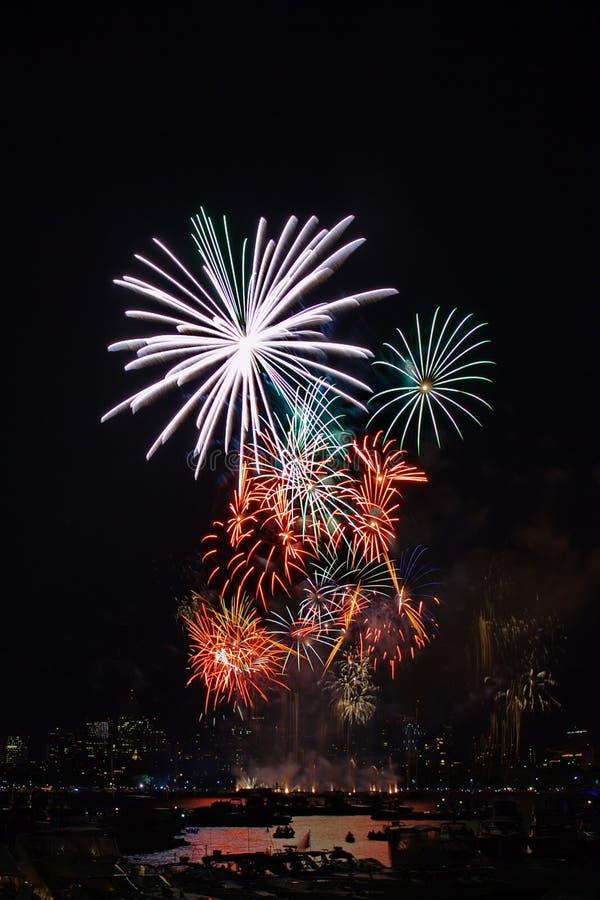 Boston-Feuerwerk 4 lizenzfreies stockfoto