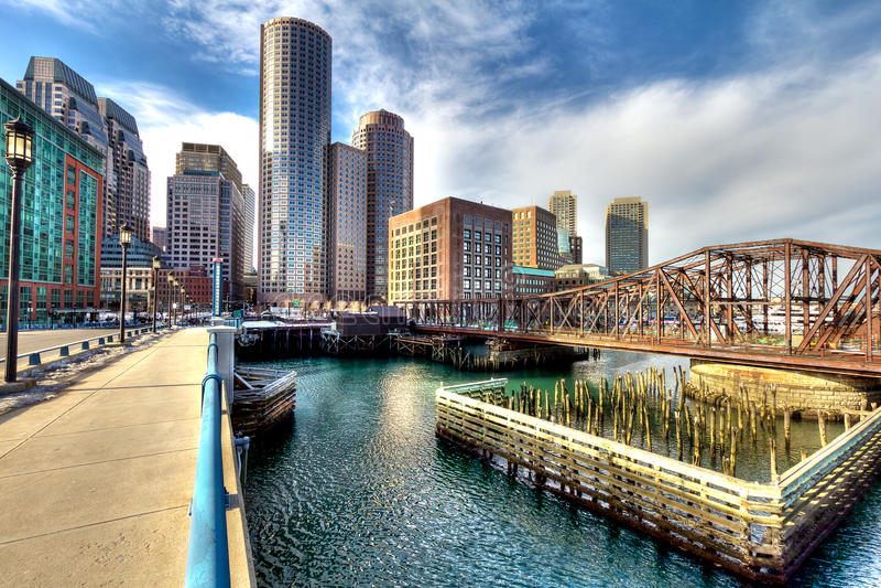 Download Boston Financial District stock image. Image of range - 18395229