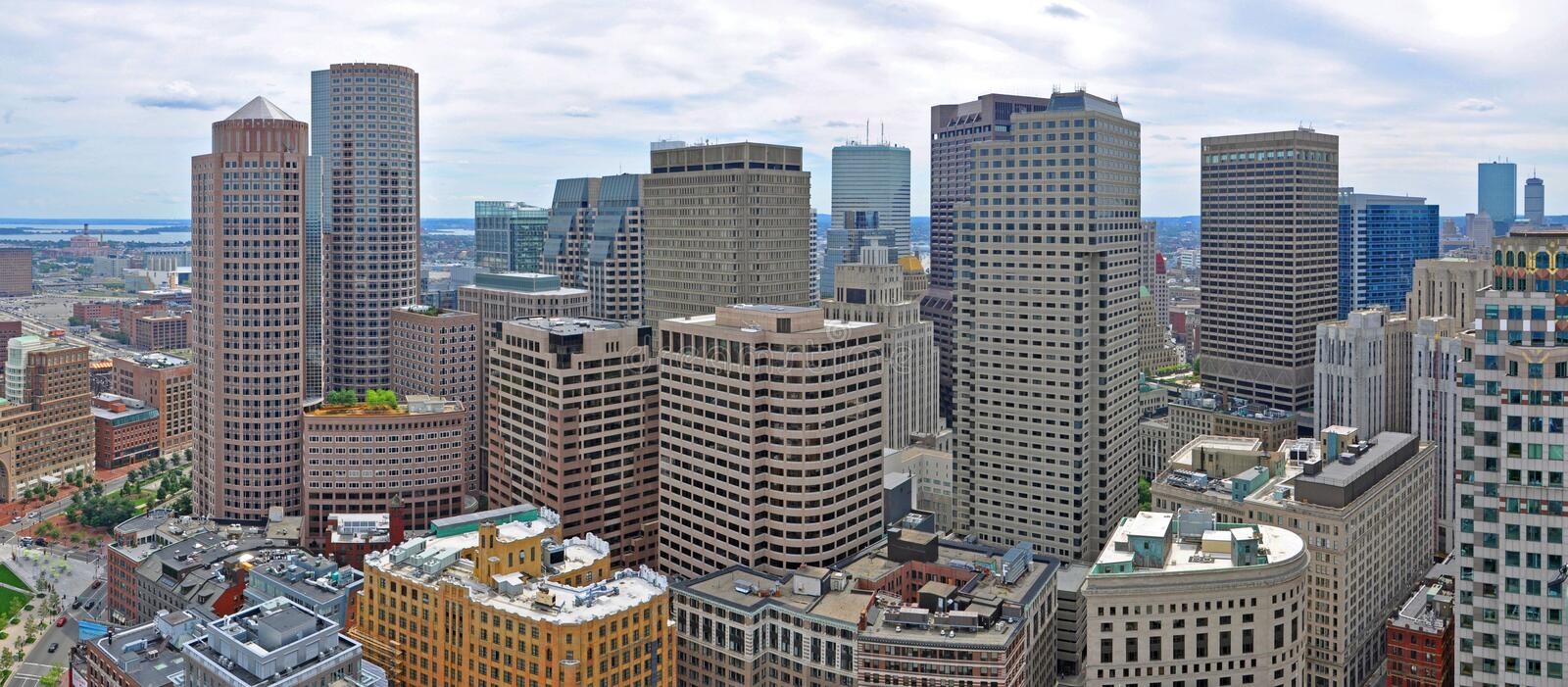Boston Financial District Skyline, MA, USA stock photography