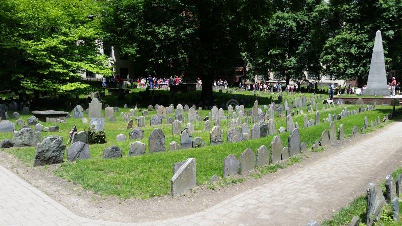 Boston-Friedhof, Paul Revere stockbilder