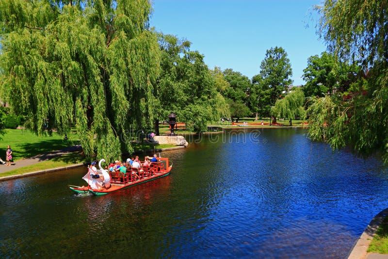 Boston gemensam allmänhetträdgård royaltyfri bild