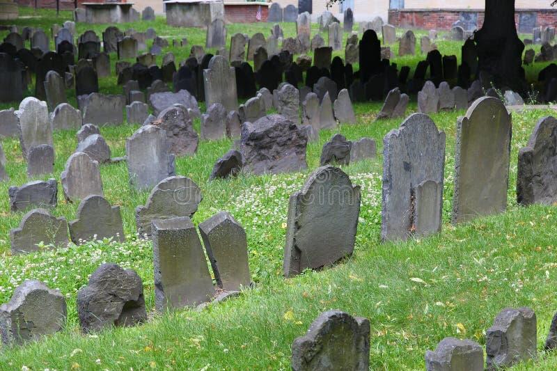 Boston-Getreidespeicher-Friedhof lizenzfreie stockfotos