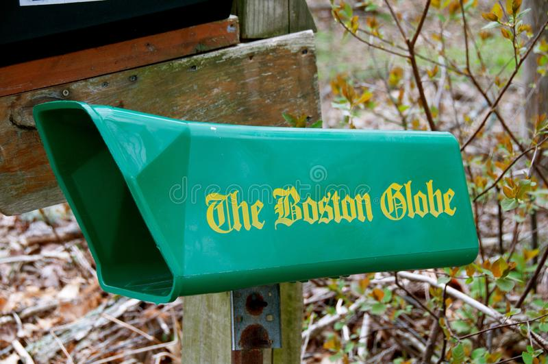 The Boston Globe daily newspaper mailbox royalty free stock images