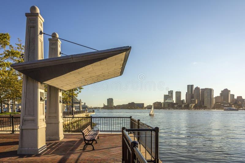 boston gromadzki w centrum pieniężny Massachusetts usa obraz royalty free