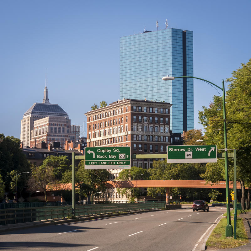 boston gromadzki w centrum pieniężny Massachusetts usa fotografia royalty free