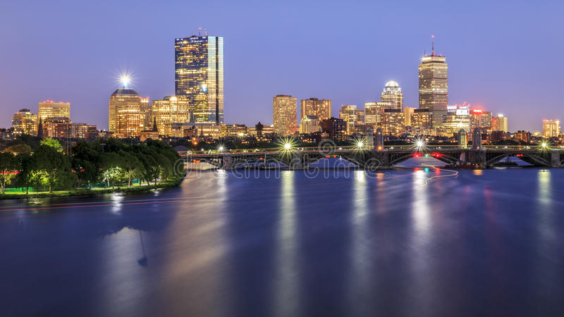 boston gromadzki w centrum pieniężny Massachusetts usa zdjęcie royalty free