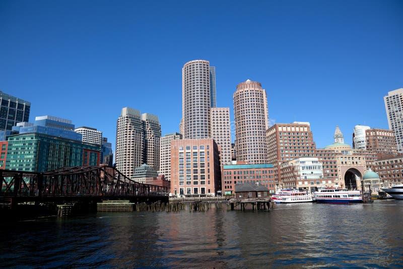 Boston-Hafen lizenzfreie stockbilder