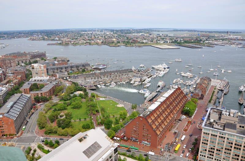 Boston-Hafen und Ufergegend stockfotos