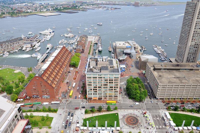 Boston-Hafen und Ufergegend stockfoto