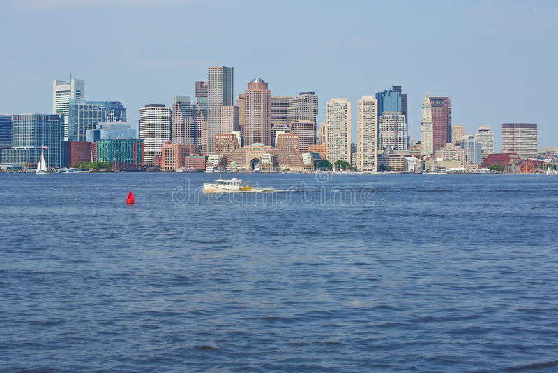 Boston Hamn Redaktionell Bild