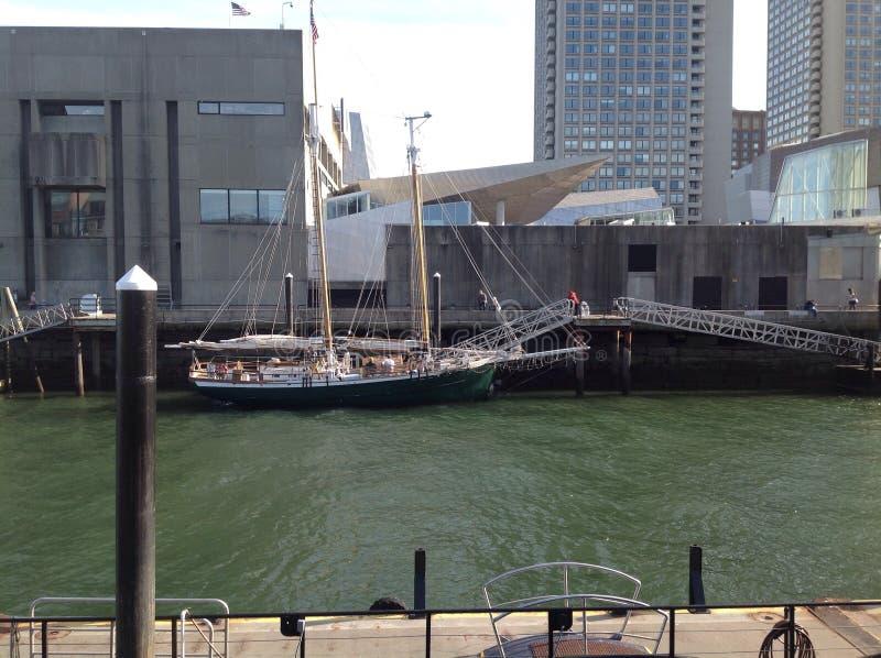 Boston hamn fotografering för bildbyråer