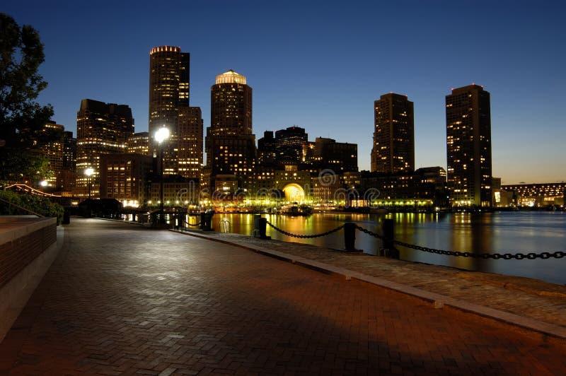 Download Boston harbar at night stock photo. Image of nightlife - 3067966