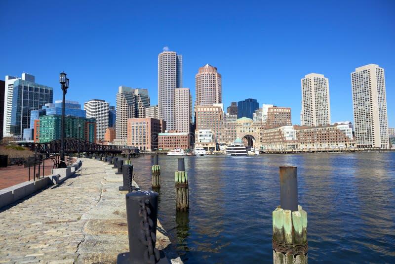 Download Boston Harbor stock photo. Image of skyline, massachusetts - 21960990