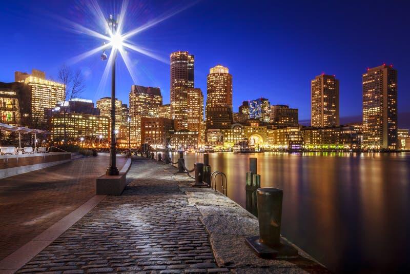 The Boston Harbor stock images