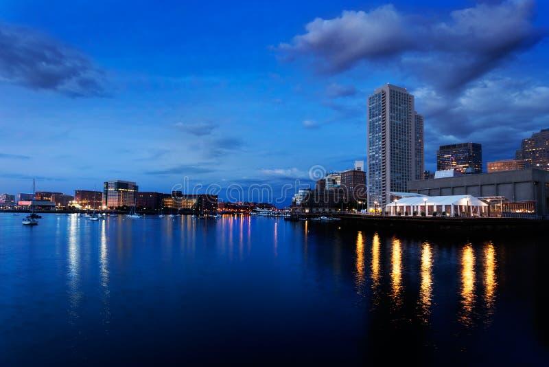 Download Boston Harbor Before Dawn Stock Photo - Image: 27949910