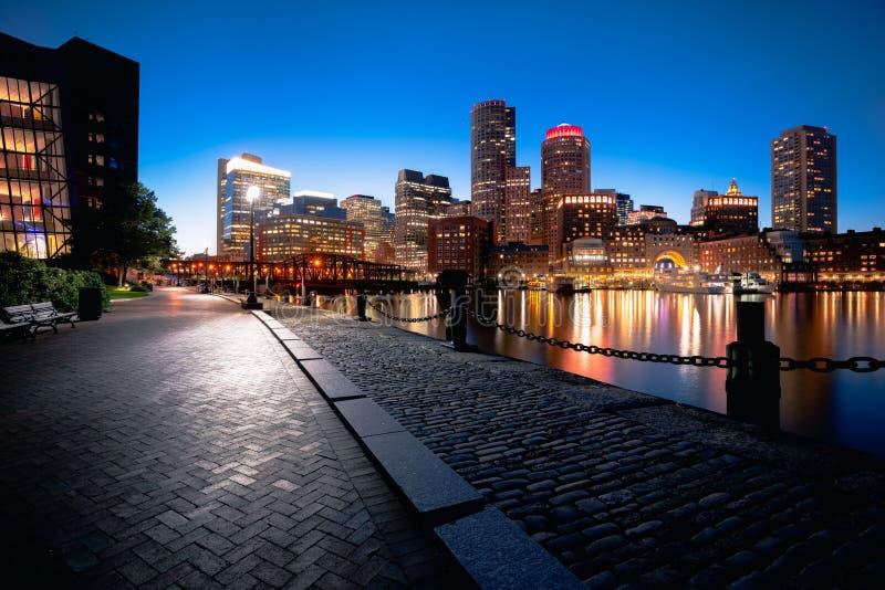 Boston harbor stock image