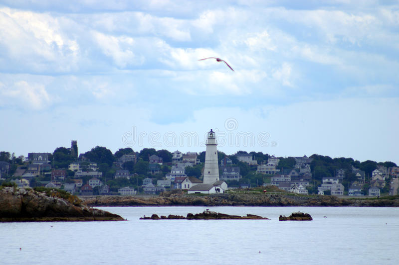 Boston Harbor lighthouse is the oldest lighthouse in New England royalty free stock photos