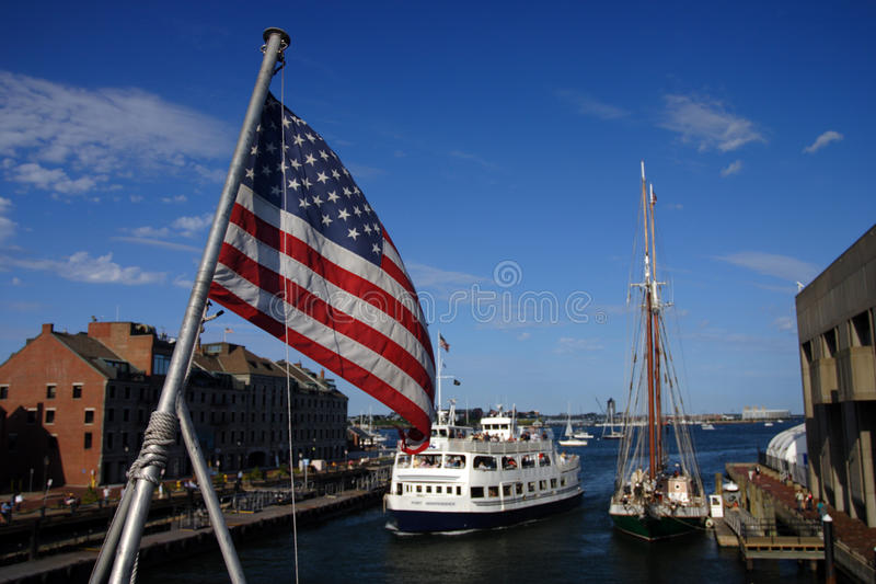 Boston Harbor lighthouse is the oldest lighthouse in New England. Stock image of Boston Harbor lighthouse is the oldest lighthouse in New England stock image