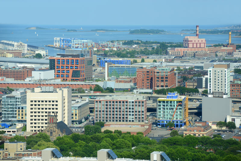 Boston Harbor, Massachusetts, USA royalty free stock photos