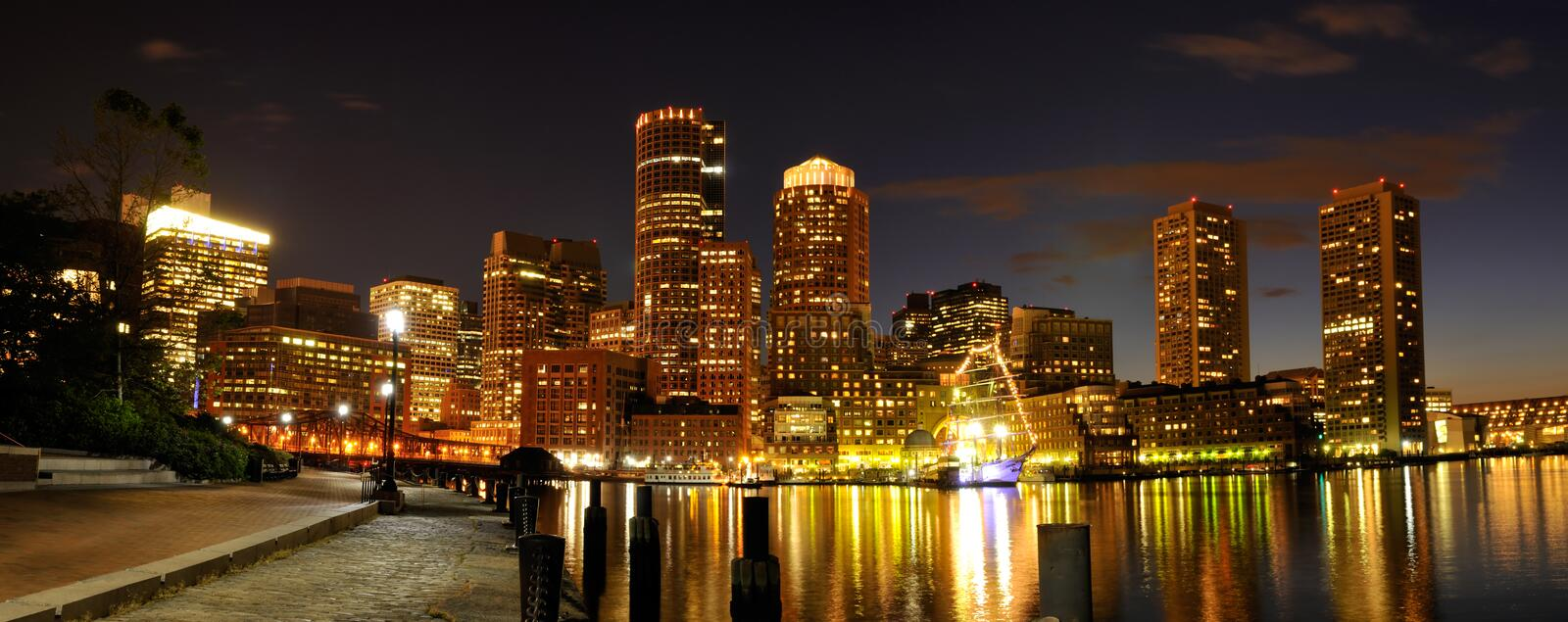 Boston Harbor and Skyline royalty free stock images