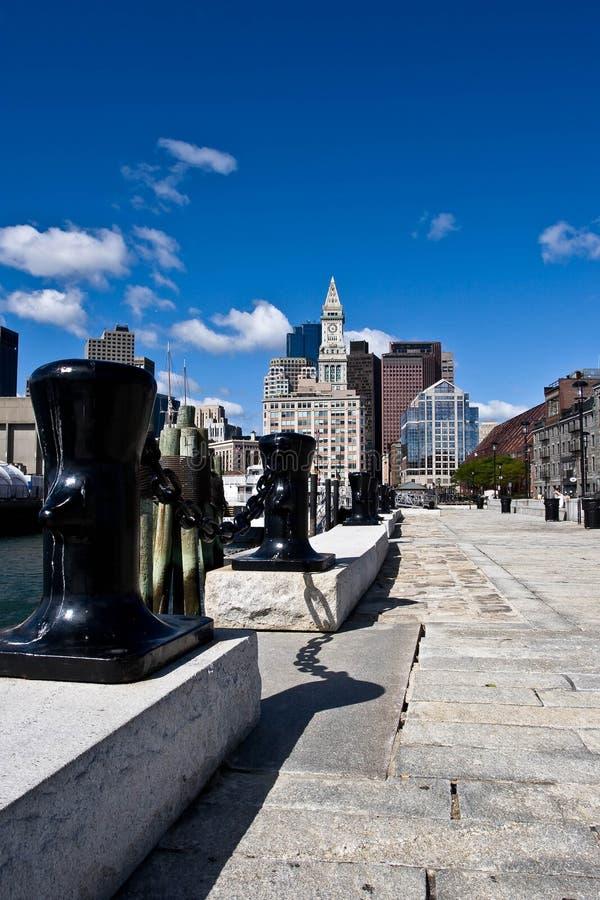 Boston Harbor Wharf stock photography