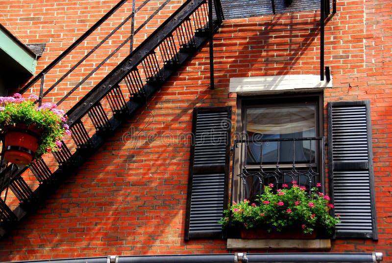 Boston-Hausfragment lizenzfreies stockbild