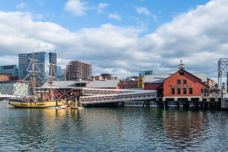Boston Herbacianego przyjęcia muzeum - Boston, Massachusetts, usa zdjęcia royalty free