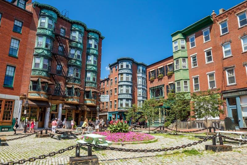 Boston historisches North End stockbilder