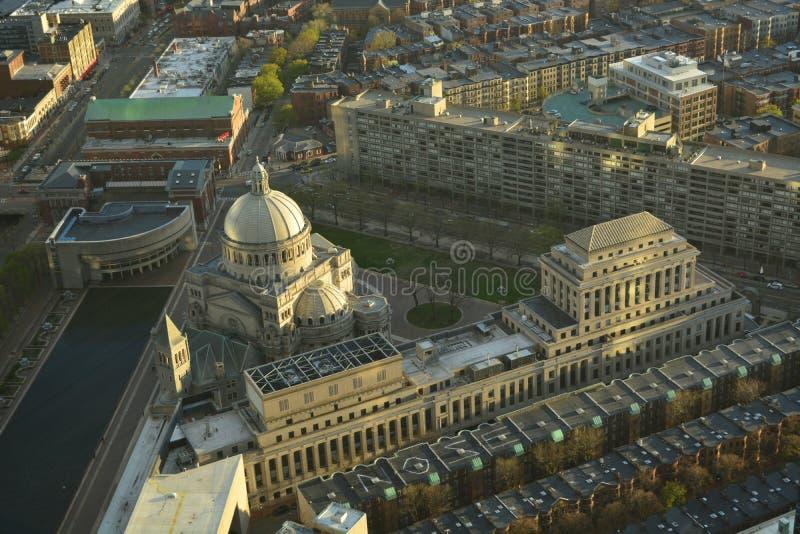 Boston historiska byggnader arkivbild